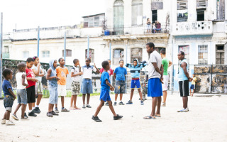 Boxeo en la Habana Vieja