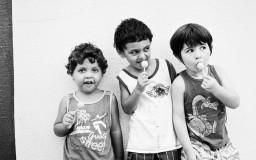 Álvaro, Antônio e Lino - primos - Arq.Pessoal